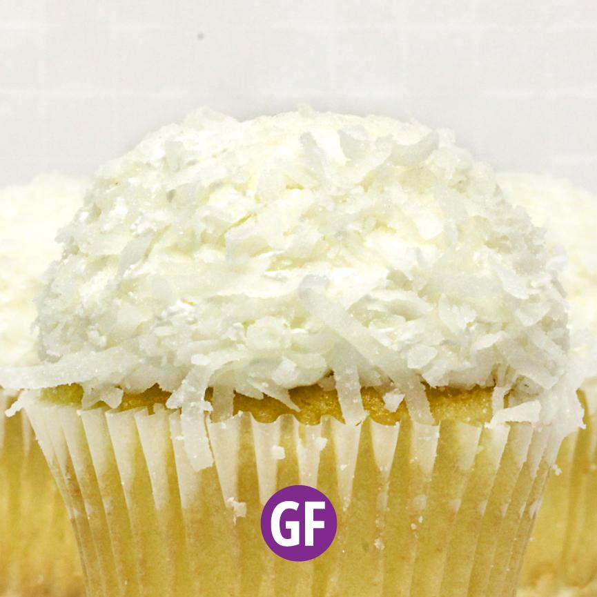 Gluten-Free - White with Coconut Cupcake