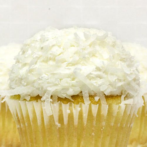 White with Coconut Cupcake