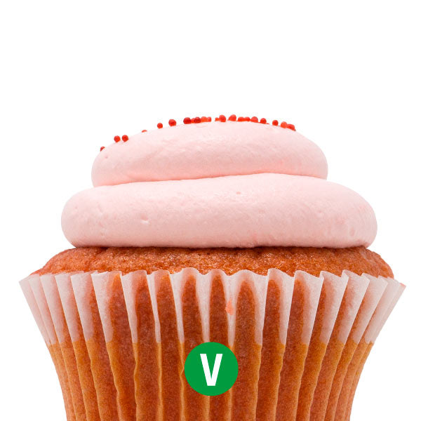 Vegan Very Berry Strawberry Cupcake