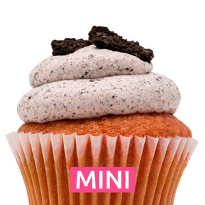 Strawberry with Strawberry Oreo Mousse Mini Cupcakes - Dozen