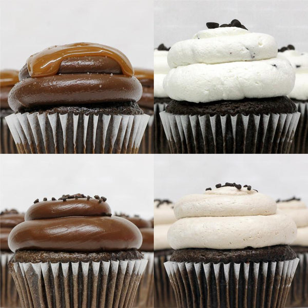 Chocolate Lovers - 4 Pack of Cupcakes