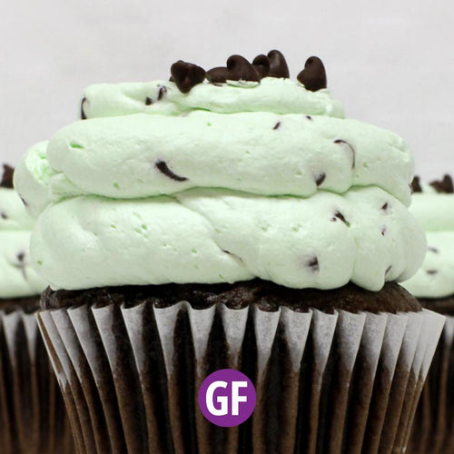 Gluten-Free - Chocolate with Mint Chip Mousse Cupcake