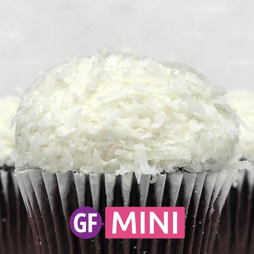 Gluten-Free - Chocolate with Coconut Mini Cupcakes - Dozen