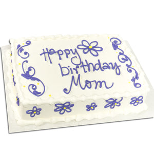 Flowers Sheet Cake - Semi Custom