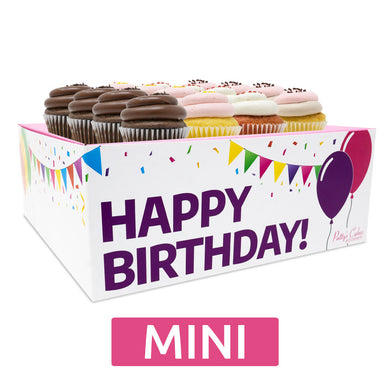 Mini Cupcakes Choose Your Flavors - 12 :|: Birthday Gift Box