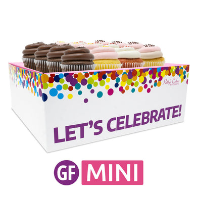 Gluten-Free Mini Cupcakes - Choose Your Flavors - 12 :|: Let's Celebrate Gift Box