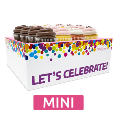 Mini Cupcakes Choose Your Flavors - 12 :|: Let's Celebrate Gift Box