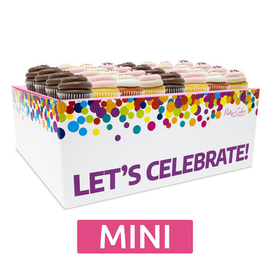 Mini Cupcakes - 24 Pack :|: Let's Celebrate Gift Box