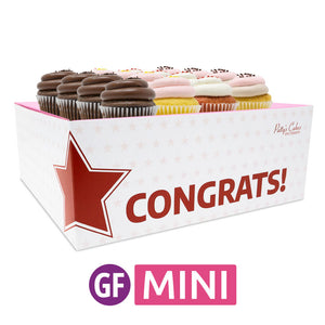 Gluten-Free Mini Cupcakes - Choose Your Flavors - 12 :|: Congrats Gift Box