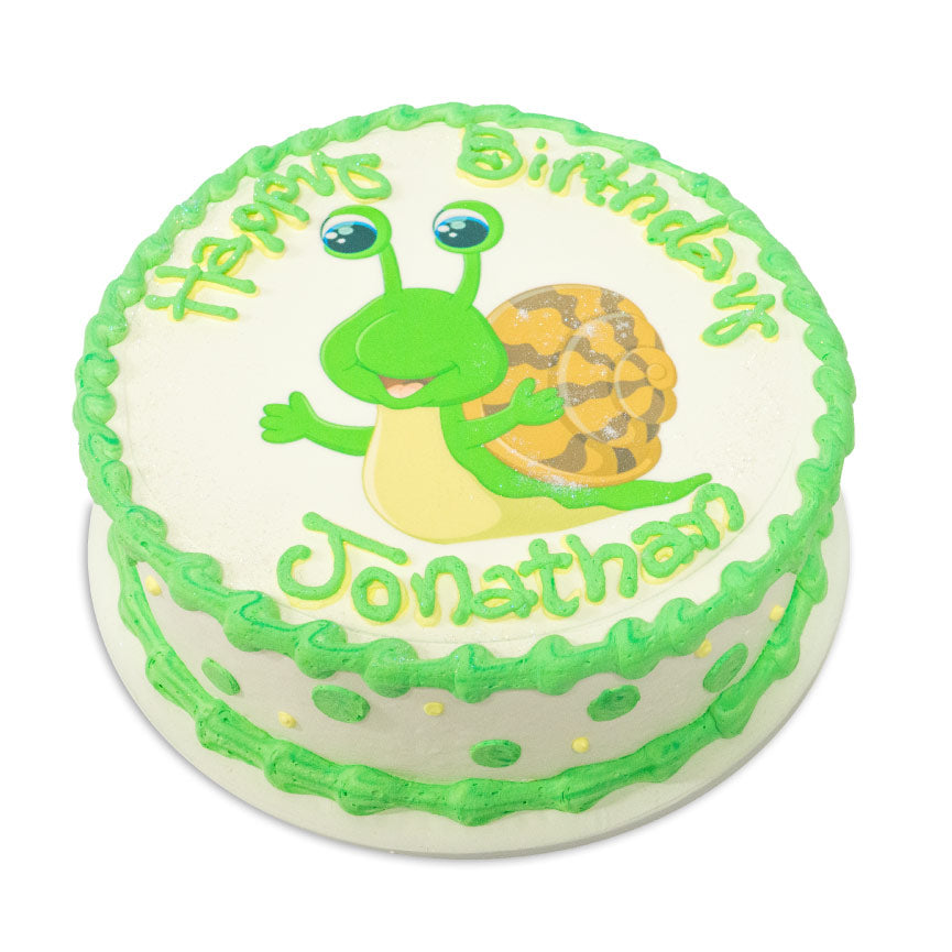 Birthday Cake with Fun Dots and an Image
