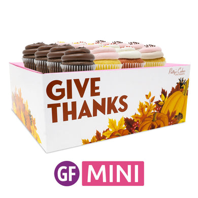 Gluten-Free Mini Cupcakes - Choose Your Flavors - 12 :|: Thanksgiving Gift Box