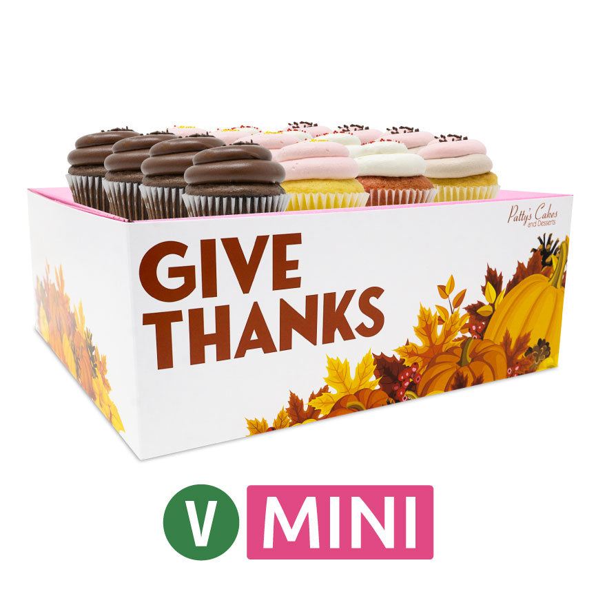 Vegan Mini Cupcakes - Choose Your Flavors - 12 :|: Thanksgiving Gift Box