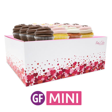 Gluten-Free Mini Cupcakes - Choose Your Flavors - 12 :|: Hearts Gift Box