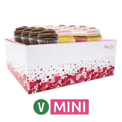 Vegan Mini Cupcakes - Choose Your Flavors - 12 :|: Hearts Gift Box