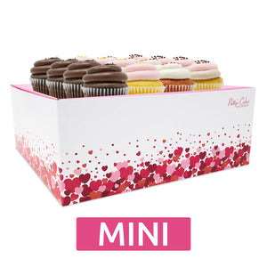 Mini Cupcakes - 12 Pack :|: Hearts Gift Box