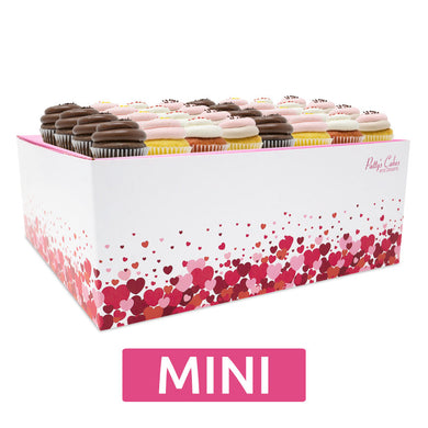 Mini Cupcakes - 24 Pack :|: Hearts Gift Box