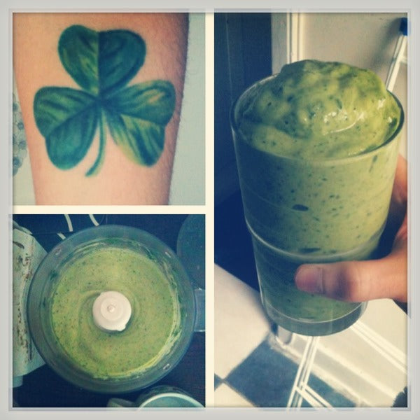 shamrock shake - easy green smoothie recipe