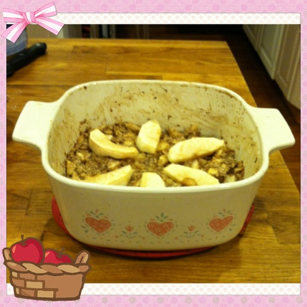 Vegan Apple Crumble (can be gluten free, sugar free, low fat)