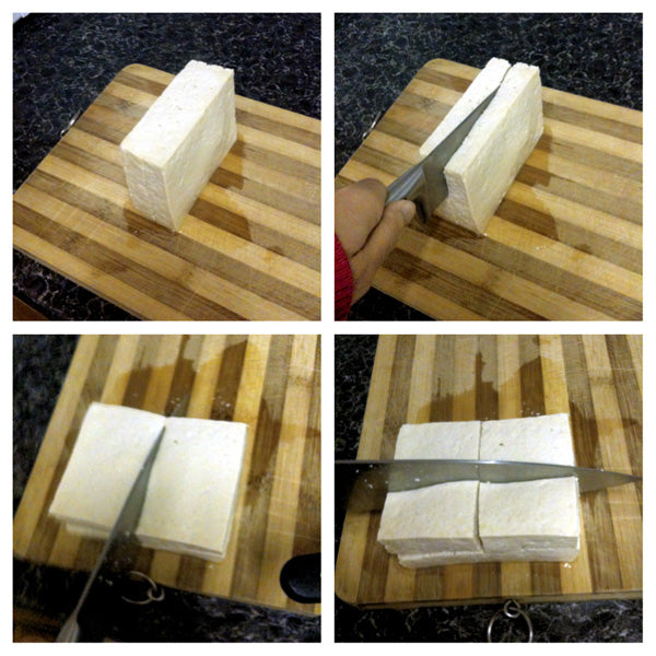 how to cut tofu