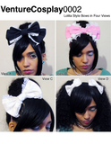EGL bows tutorial, Lolita bows sewing pattern, alice band printable sewing pattern, fairy kei bow tutorial