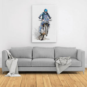 The beautiful Africa  - Large Portrait Canvas - Motorcycle Adventurers