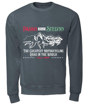 The Passo Dello Stelvio - Unisex Sweatshirt - Motorcycle Adventurers