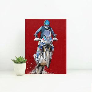The beautiful Africa  - Small Portrait Canvas - Motorcycle Adventurers