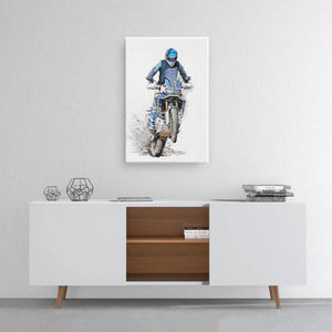 The beautiful Africa  - Medium Portrait Canvas - Motorcycle Adventurers
