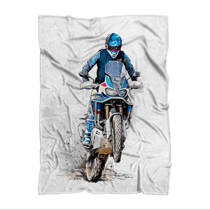 Africa Sublimation Adult Blanket - Motorcycle Adventurers