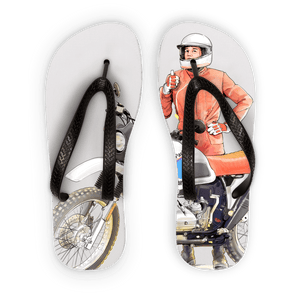 Legend Adult Flip Flops - Motorcycle Adventurers