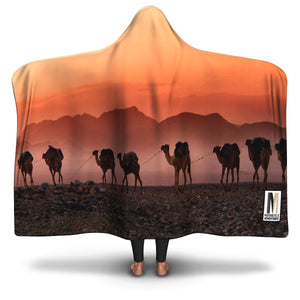 Hooded Blanket Camel Explorer - Motorcycle Adventurers