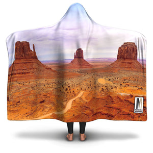 Hooded Blanket Desert Mirage - Motorcycle Adventurers