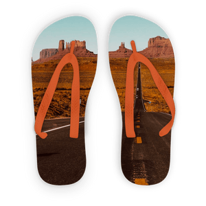 Death Valley  Adult Flip Flops - Motorcycle Adventurers