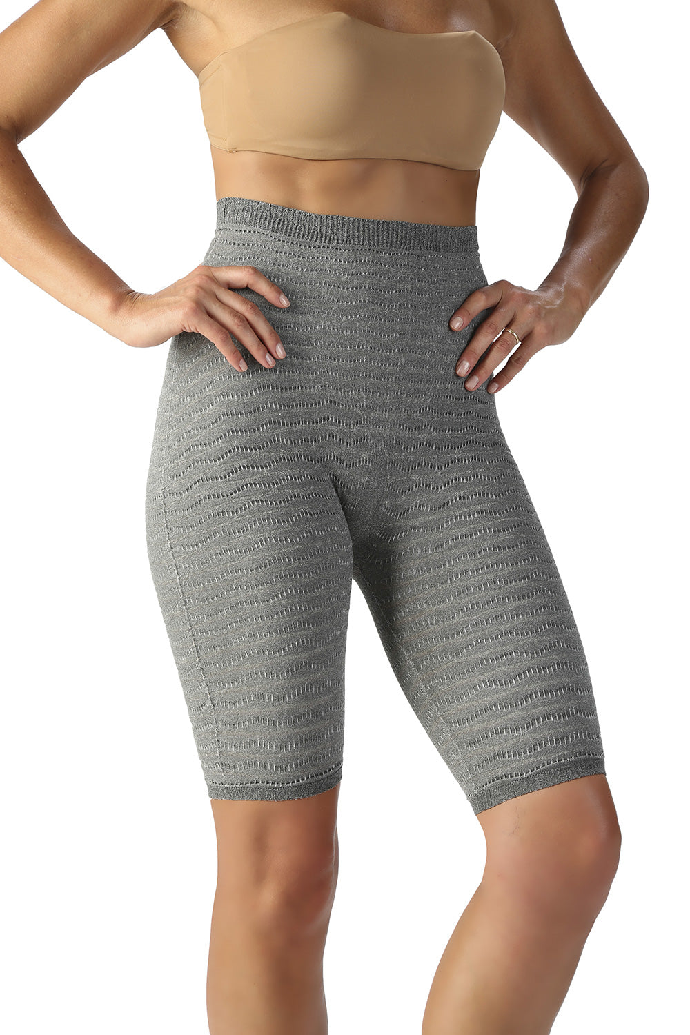 SPIKE-CELL HIGH WAIST CYCLING SHORTS