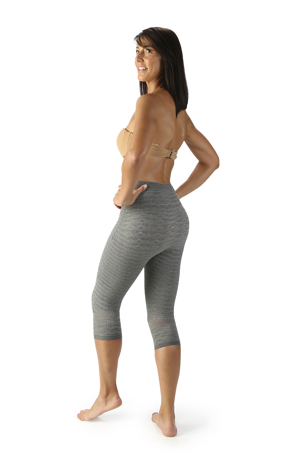 SPIKE-CELL HIGH WAIST 3/4 LENGTH LEGGINGS - 3/4 LEGGINGY