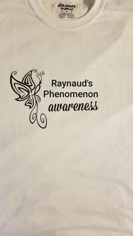 Butterfly Design - Raynaud's Phenomenon Ladies V-Neck (S-XL)