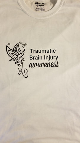 Butterfly Design - Traumatic Brain Injury TBI Long Sleeve T-Shirt (2XL-5XL)