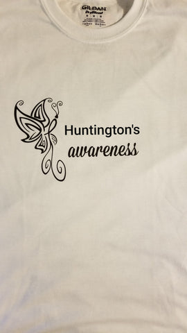 Butterfly Design - Huntington's Ladies V-Neck (2XL-5XL)