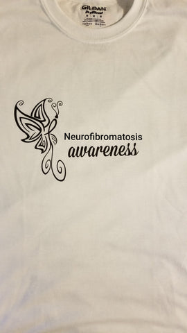 Butterfly Design -Neurofibromatosis Long Sleeve T-Shirt (2XL-5XL)