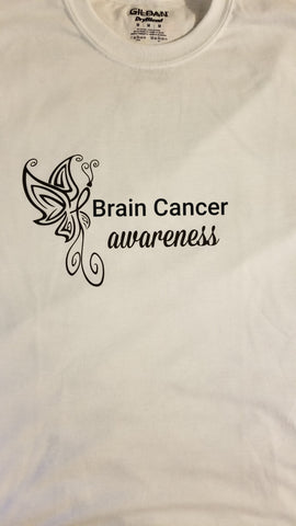 Butterfly Design - Brain Cancer T-Shirt (2XL-5XL)