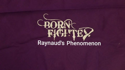 Raynaud's Phenomenon Born Fighter Warrior Long Sleeve T-Shirt (S-XL)