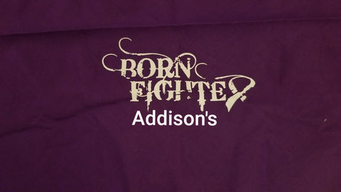Born Fighter Addison's Warrior Long Sleeve T-Shirt (2XL-5XL)