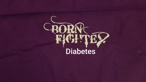 Born Fighter Diabetes Warrior Long Sleeve T-Shirt (2XL-5XL)