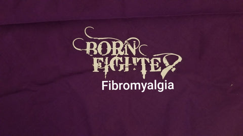 Born Fighter Fibromyalgia Warrior Long Sleeve T-Shirt (S-XL)