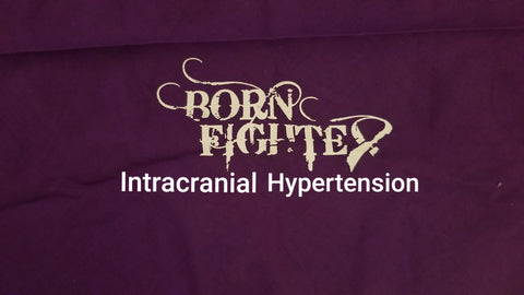 Born Fighter Intracranial Hypertension Warrior Long Sleeve T-Shirt (2XL-5XL)