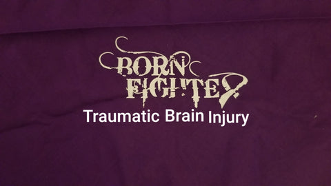 Traumatic Brain Injury TBI Born Fighter Warrior Long Sleeve T-Shirt (2XL-5XL)
