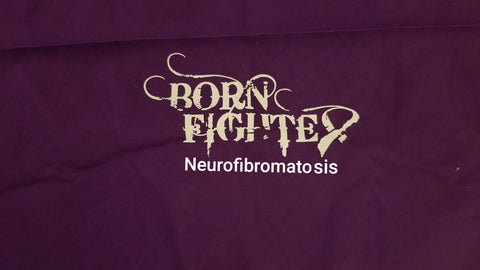 Born Fighter Neurofibromatosis Warrior Long Sleeve T-Shirt (2XL-5XL)