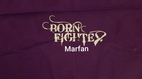 Born Fighter Marfan Warrior Long Sleeve T-Shirt (2XL-5XL)