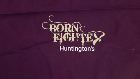 Born Fighter Huntington's Warrior Long Sleeve T-Shirt (2XL-5XL)