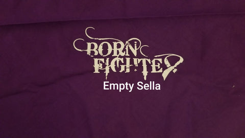 Born Fighter Empty Sella Warrior Ladies V-Neck (2XL-5XL)